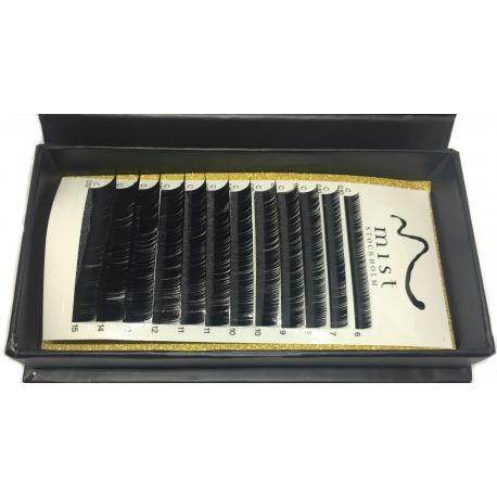 0.10 C MIX Synthetic silk lashes for eyelash extension