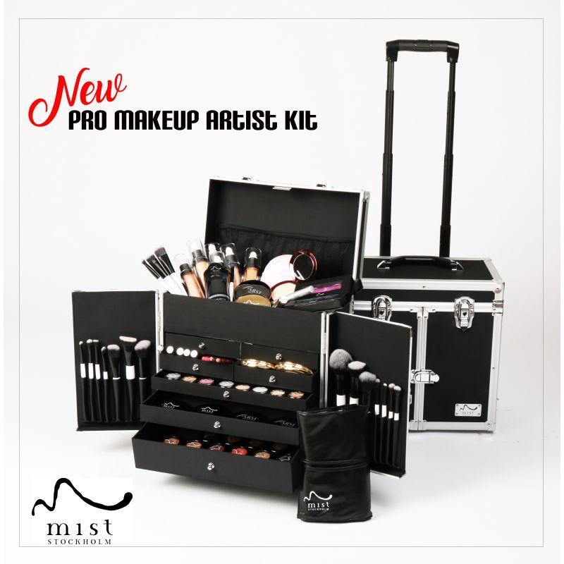 Professional Makeup artist kit mist Stockholm sweden