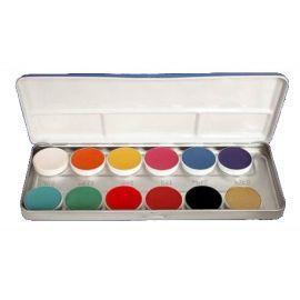 Water based body colors pallete 12 pcs